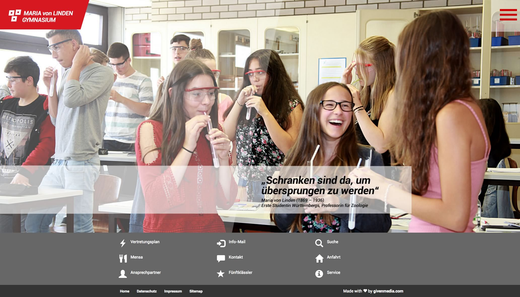 Maria von Linden Gymnasium Calw School Website and Logo Design